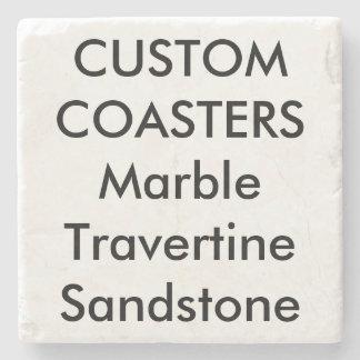 """Personalizado 4"""" prácticos de costa de mármol de posavasos de piedra"""