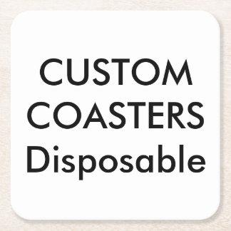 """Personalizado 4"""" prácticos de costa disponibles posavasos de papel cuadrado"""