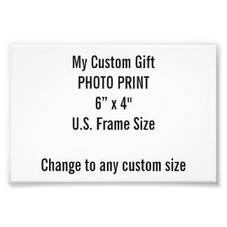 """Personalizado 6"""" x 4"""" impresión de la foto (tamaño"""