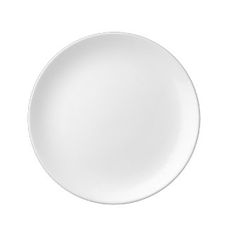 """Personalizado 8,5"""" placa decorativa de la plato de porcelana"""