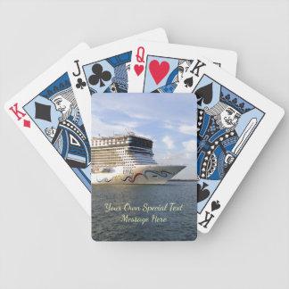 Personalizado adornado del arco del barco de baraja de cartas bicycle