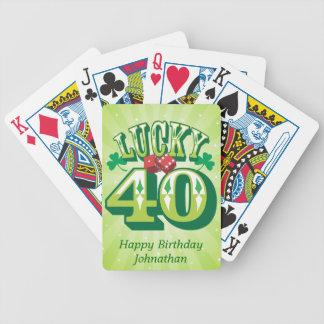 Personalizado afortunado 40 baraja de cartas