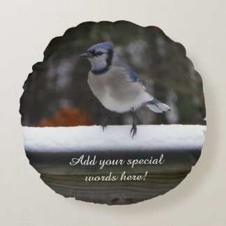 Personalizado alrededor de la almohada del pájaro cojín redondo