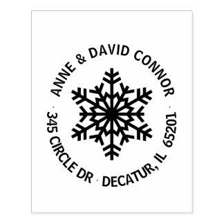 Personalizado alrededor de sello de la dirección