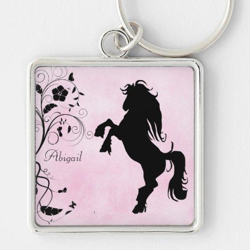 Personalizado alzando llavero del caballo