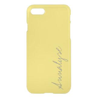 Personalizado amarillo brillante soleado del color funda para iPhone 7