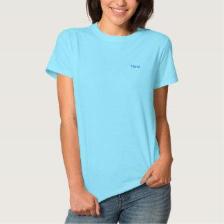 Personalizado azul claro personalizado camiseta polo