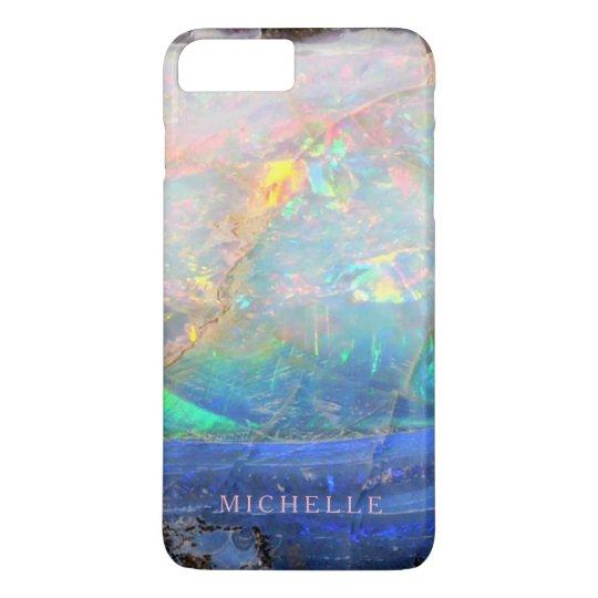 Personalizado bling mineral del bokeh de la falsa funda para iPhone 8 plus/7 plus