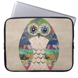 Personalizado bohemio del pájaro de Boho del búho Funda Para Portátil
