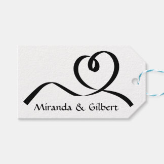 Personalizado casando amor blanco y negro del etiquetas para regalos