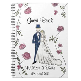 Personalizado casando el cuaderno del libro de