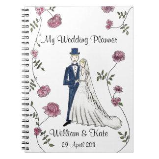 Personalizado casando el cuaderno del planificador