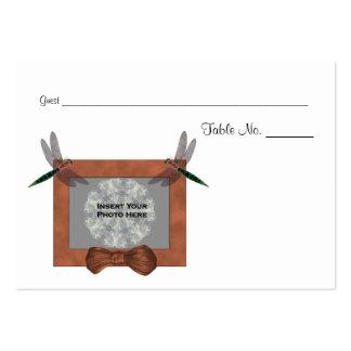 Personalizado casando el lugar de la tabla de la f tarjetas de visita