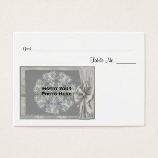 Personalizado casando el lugar de la tabla de la tarjeta de negocios