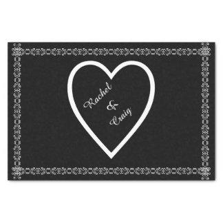 Personalizado casando el papel seda