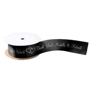 Personalizado casando la cinta del favor con los lazo de raso