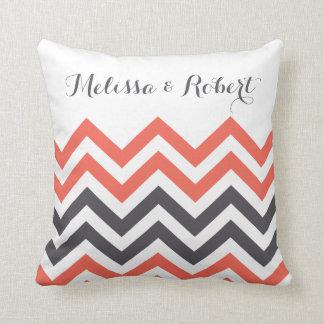 Personalizado casando rayas de la almohada el |