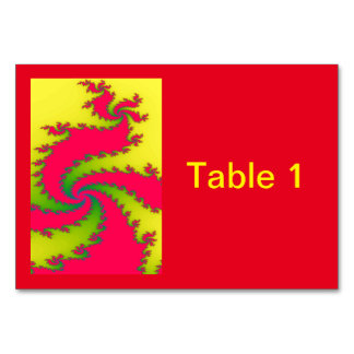 Personalizado chino Tablecard del fractal del Tarjeta