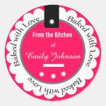 Personalizado cocido con las etiquetas de la etiquetas redondas