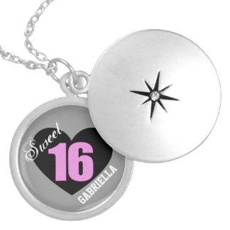 Personalizado: Collar del dulce 16 del rosa y del