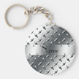 Personalizado con su acero conocido de la placa de llavero redondo tipo chapa
