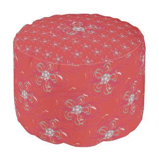 Personalizado contemporáneo floral de Borgoña del Pouf