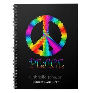 Personalizado: Cuaderno del signo de la paz del