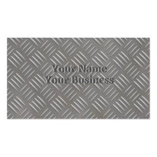 Personalizado de aluminio grabado en relieve de la tarjetas de visita
