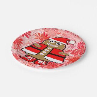"""Personalizado de """"GingerbreadMan"""" de las placas de Plato De Papel"""