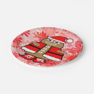 """Personalizado de """"GingerbreadMan"""" de las placas de Platos De Papel"""