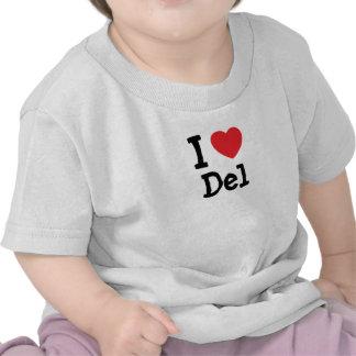 Personalizado de I love Del heart personalizado Camiseta
