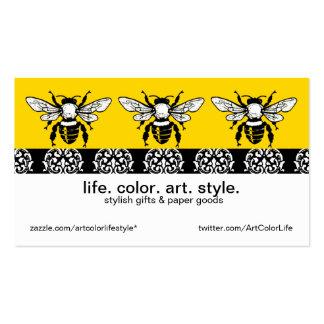 Personalizado de la abeja de la miel tarjetas de visita