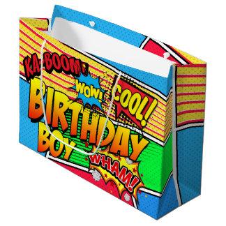 Personalizado de la fiesta de cumpleaños del super bolsa de regalo grande