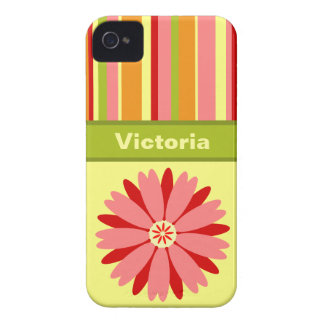 Personalizado de la primavera del vintage iPhone 4 Case-Mate carcasa