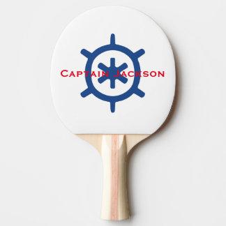 Personalizado de la rueda del timón del capitán de pala de tenis de mesa