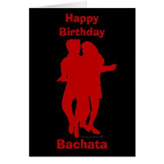 Personalizado de la silueta de los bailarines de tarjeta de felicitación