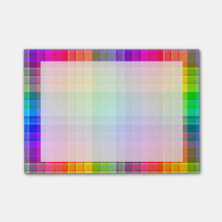 Personalizado de la tela escocesa del arco iris notas post-it®
