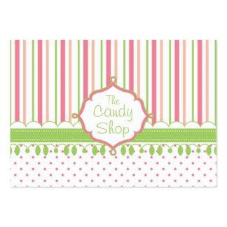 Personalizado de la tienda del caramelo rechoncho tarjetas de visita grandes