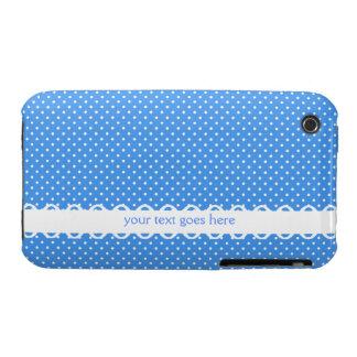 Personalizado de lujo de los puntos retros blancos Case-Mate iPhone 3 carcasa