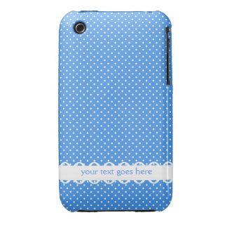 Personalizado de lujo de los puntos retros blancos iPhone 3 Case-Mate cobertura