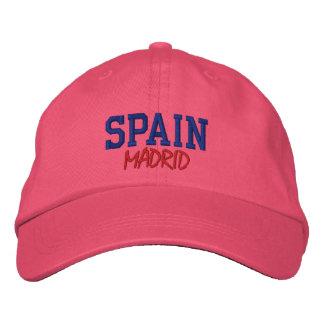 PERSONALIZADO DE MADRID, ESPAÑA GORRA BORDADA