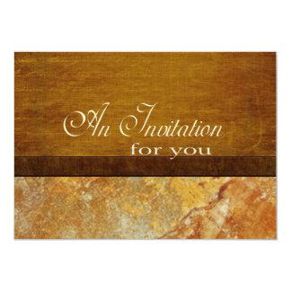 Personalizado de piedra del retiro del ejecutivo invitación 12,7 x 17,8 cm