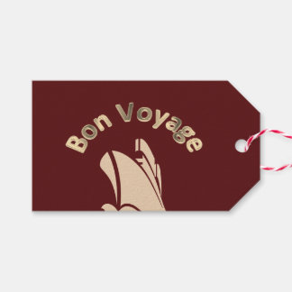 Personalizado del barco de cruceros del buen viaje etiquetas para regalos