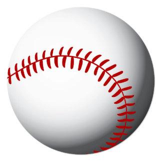 Personalizado del béisbol invitación 13,3 cm x 13,3cm
