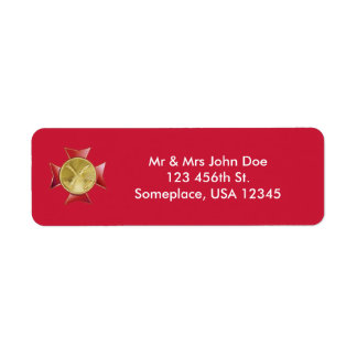 Personalizado del bugle del cuerpo de bomberos 2 etiqueta de remitente