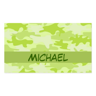 Personalizado del camuflaje de Camo de la verde li Tarjetas De Negocios