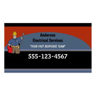 Personalizado del electricista personalizado tarjetas de visita
