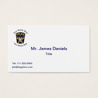 Personalizado del escudo del policía tarjeta de visita