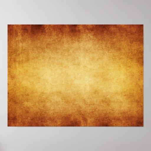 Personalizado del fondo del papel de la antigüedad posters