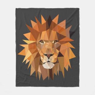 Personalizado del león del polígono manta de forro polar